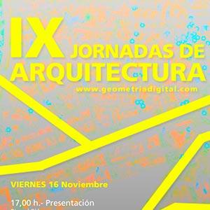 IX JORNADAS DE ARQUITECTURA EN MÁLAGA